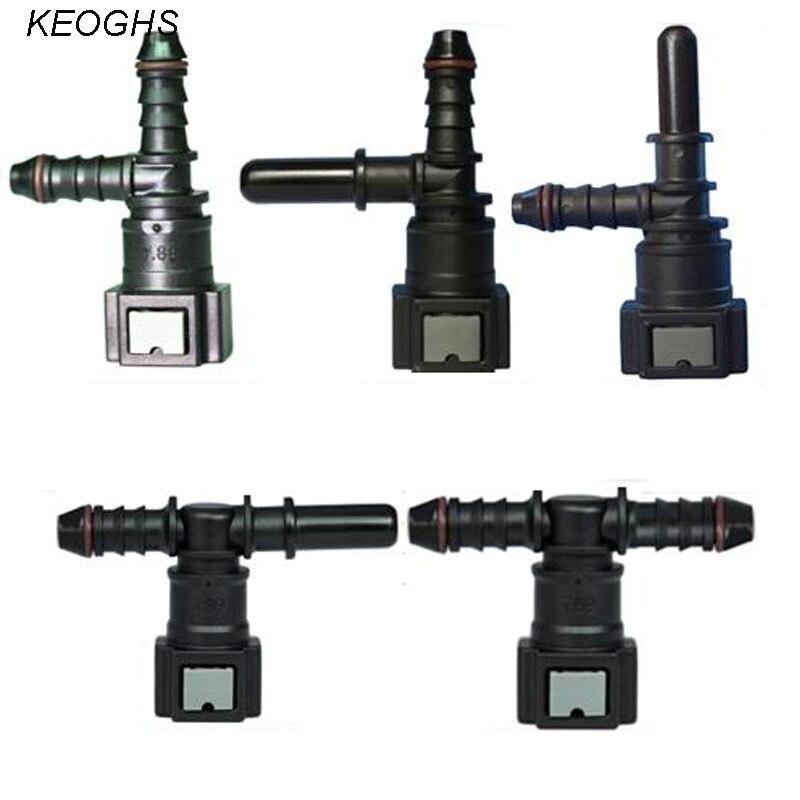 Автомобильный топливный разъем ID6, коннектор для 6-8 мм трубчатого типа, гнездовой шланг для топлива/метанола/этанола/мочевины, 5 шт., 7,89