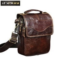 Quality Leather Male Fashion Casual College Tote Messenger bag Design Satchel Crossbody One Shoulder