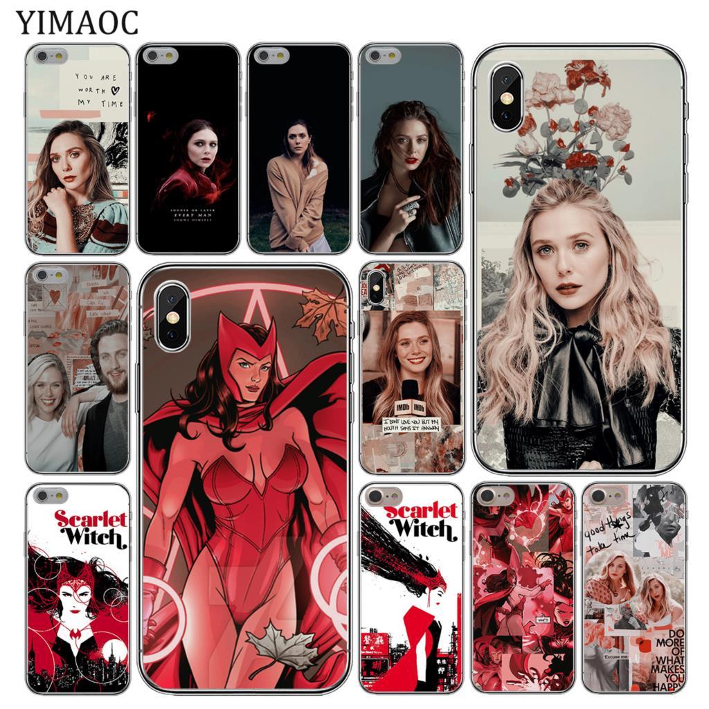YIMAOC Elizabeth Olsen bruja escarlata Marvel suave de la caja del teléfono de silicona para iPhone 11 Pro X XR XS Max 6S 6 7 8 Plus 5 5S SE 10