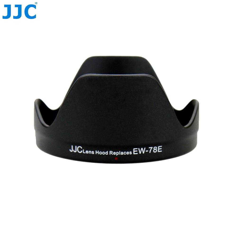 JJC capucha de lente de cámara DSLR para CANON EF-S 15-85mm f/3,5-5,6 IS USM lente reemplaza Canon EW-78E Protector de pantalla de la Lente de la flor