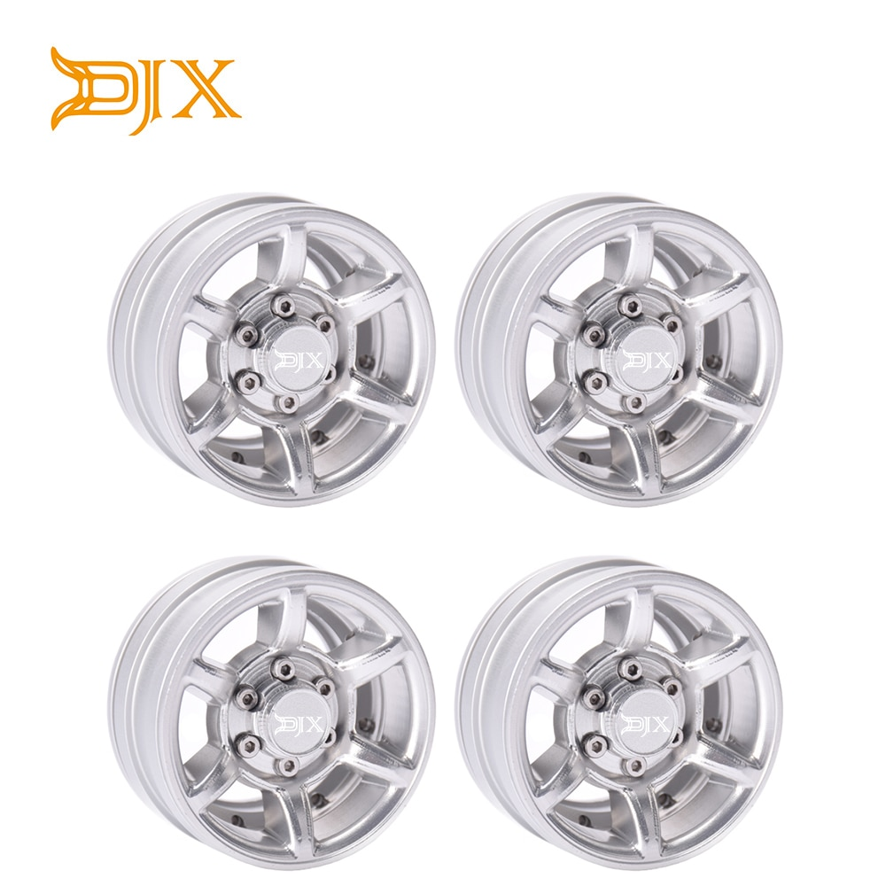 """4 Uds 1,55 """"cubos de Llanta de Aleación de aluminio para 1/10 RC orugas Axial SCX10 TAMIYA CC01 RC4WD D90 D110"""