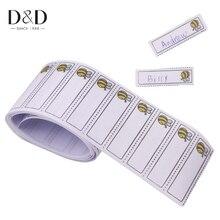 100 Stks/pak Iron-On Bee Patroon Wasbare Naam Etiketten Kledingstuk Stof Tags Kleding Labels Marker Set Voor Kleding Accessoires