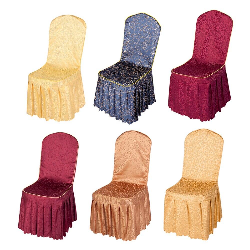 1PC chaise couverture élastique impression salle à manger chaise housse pour Banquet mariage Restaurant moderne amovible Anti-sale cuisine siège
