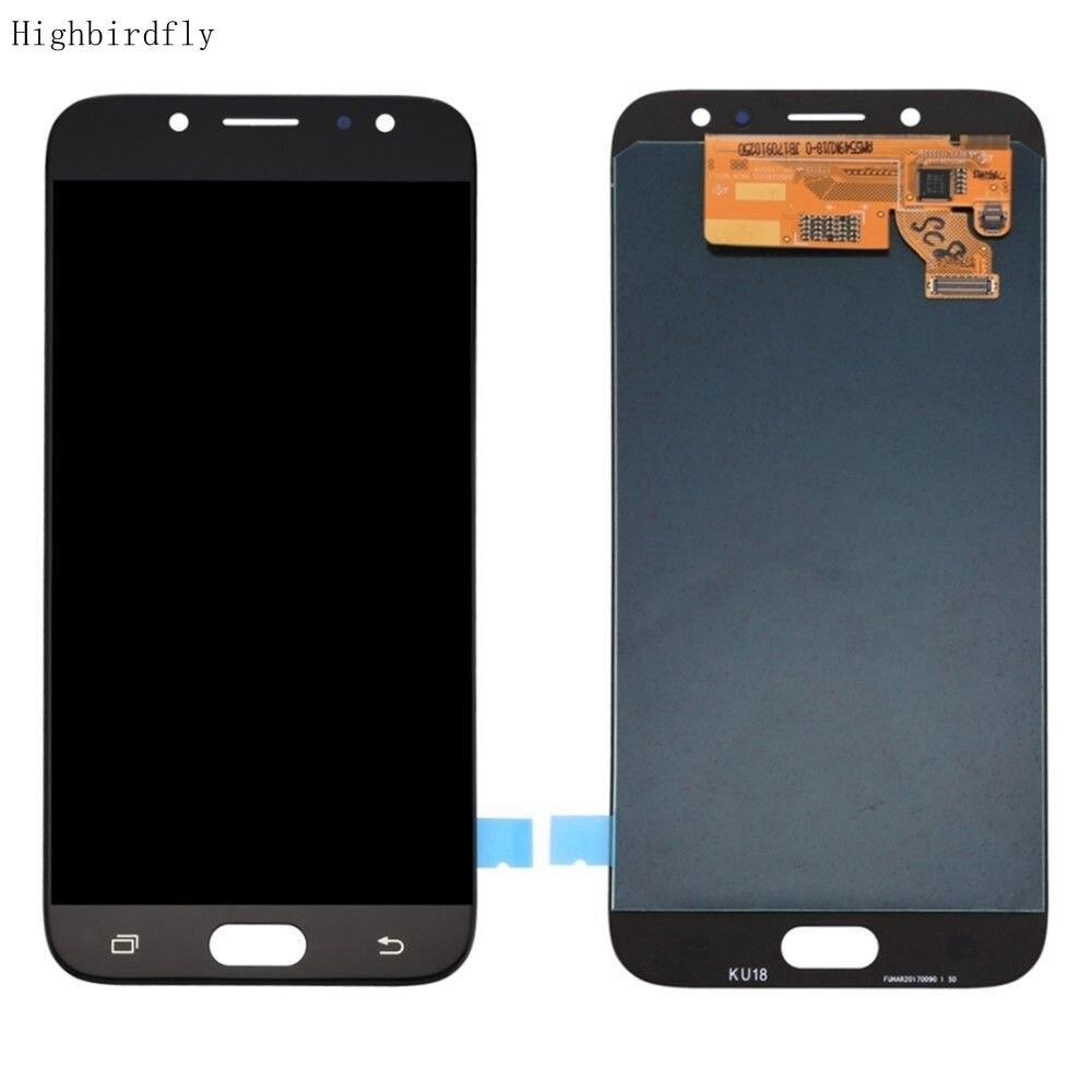 Amoled для Samsung J7 pro 2017 J730Fm/ds J730 J730Y J730H J730M SM-j730f/ds ЖК-экран + дигитайзер с сенсорным стеклом