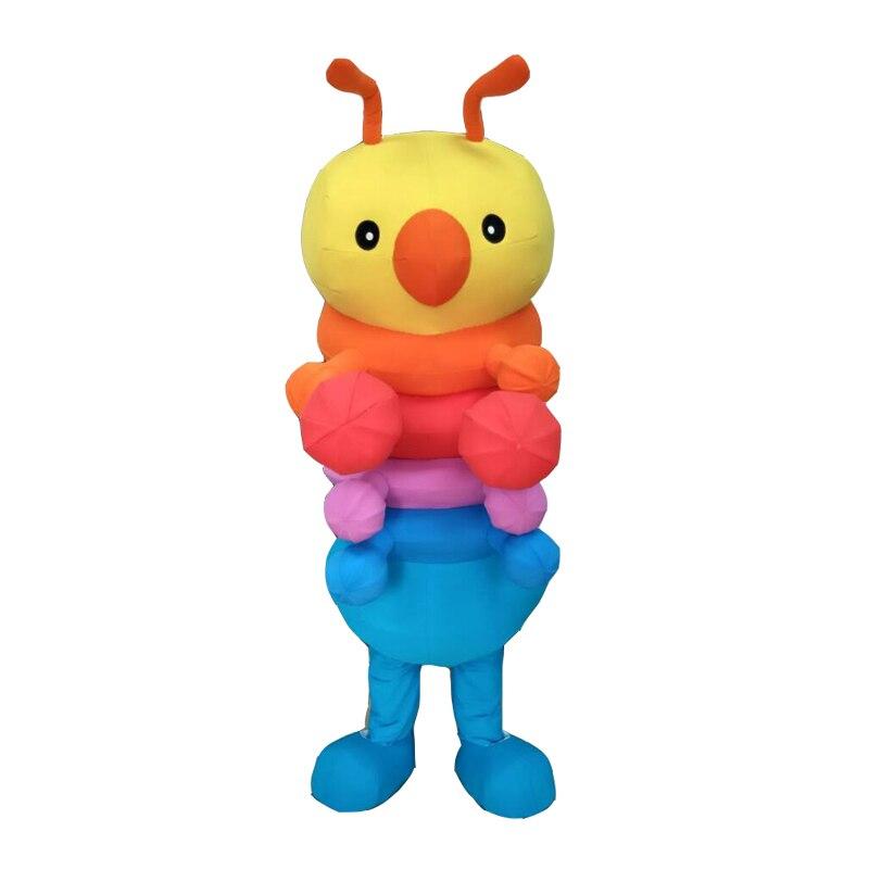 مخصص الملونة الحشرات علة التميمة زي الكبار حجم زي مع مروحة صغيرة داخل رئيس ل التجارية الإعلان كرنفال حزب