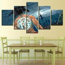 Hd impression toile art parure mur 5 photos dessin animé dragon ball Z peintre dans la décoration sur le salon
