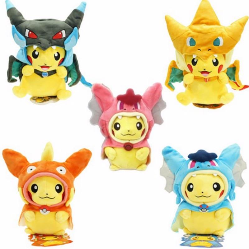 7 arten Option Baby Plüsch spielzeug Cosplay Pikachu Lustige Stofftier Puppen Kinder Spielzeug kinder Als Geschenk