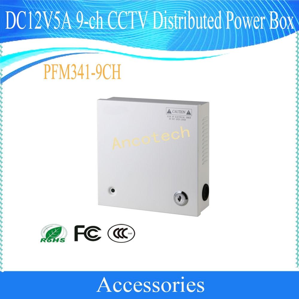 Envío Gratis accesorios para cámara de seguridad CCTV DC12V5A 9-ch distribuido Caja De Alimentación sin logotipo PFM341-9CH