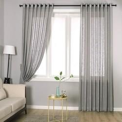 Frete grátis sheer janela cortinas para sala de estar esquerda e direita bi separação aberto 11 cores poliéster cortina cortinas blackout