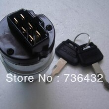 Free shipping! Kobelco Excavator SK200-8 SK210-8 SK350-8 Key Switch ,SK-8 Startup Switch,Ignition Sw