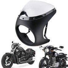 """Universal 7 """"Scheinwerfer Lenker Verkleidung Windschutzscheibe Cafe Racer Für Harley Dyna Sportster 1200 883 FLHT Bobber Touring"""