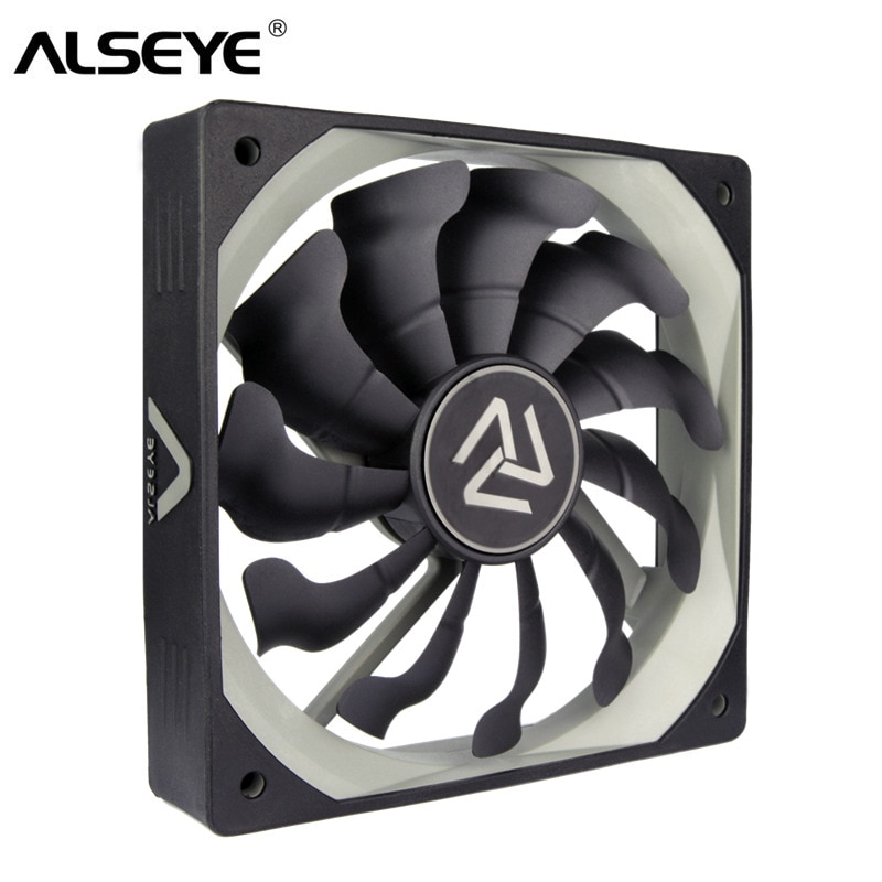 ALSEYE S-120 PC Fan 120mm High Air Flow Cooler 12V 3pin Cooling Fans for PC Case, CPU Cooler, Water Cooling
