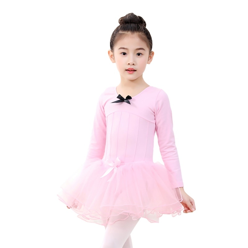 Toddler Girls Ballet Dress Athletic Dance Long Sleeve Leotards Dress Ballet Gymnastics Leotards Acrobatics for Kids