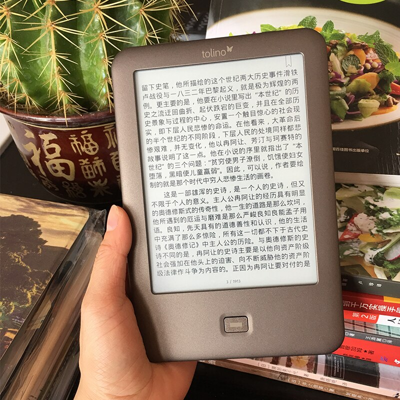 6 inch Touch Screen E-Book Reader WiFi ebook Tolino Shine e-ink  1024x758 electronic Book Reader freeshipping