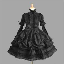 Femme princesse robe Halloween victorienne gothique Lolita robe Cosplay Lolita Costume dame femme de chambre robe superposée Cosplay jeux