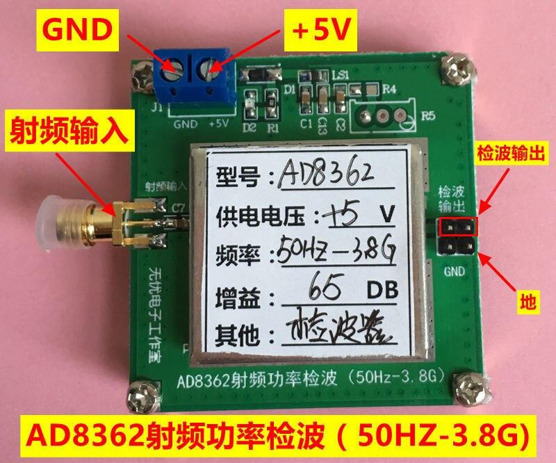 AD8362 50 HZ 3.8 GHZ, freqüência de Rádio RF Detector de detecção de energia RMS detector
