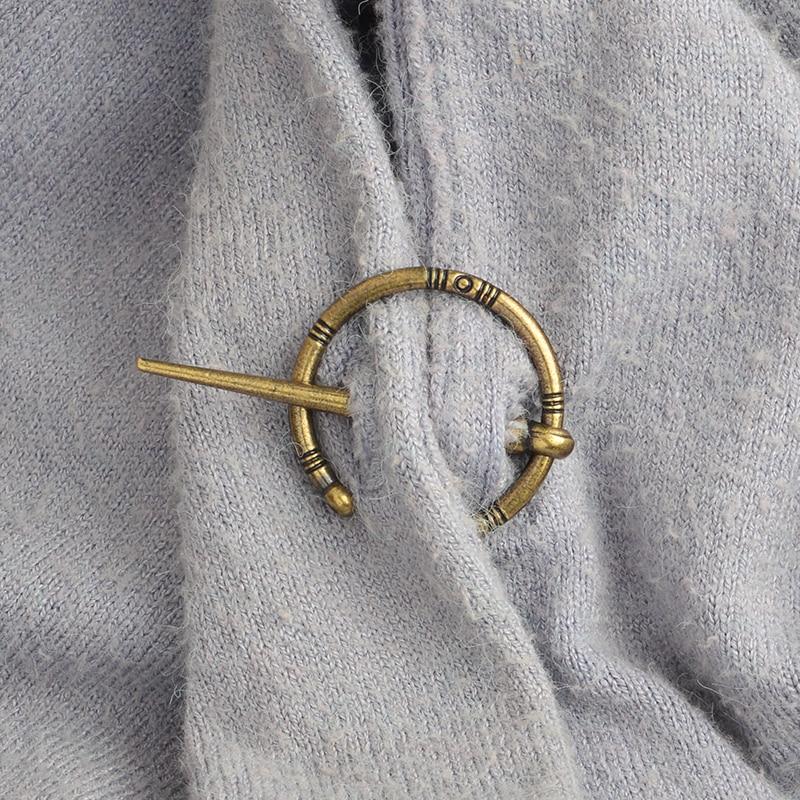 Heißer Hand Geschmiedet Viking Stil Penannular Schlange Brosche Schnalle Verschluss Mantel Pin Viking Brosche Medieval Viking Schmuck