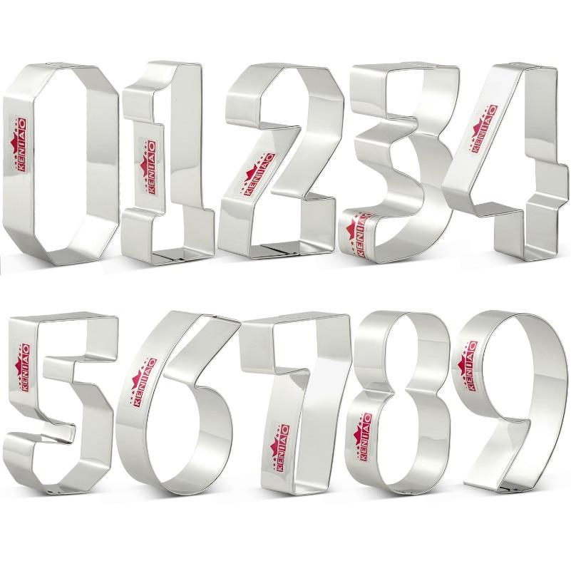 KENIAO Набор печенья - 9 предметов - Печенье / Помадка / Кондитерские изделия / Хлеборезки - Нержавеющая сталь