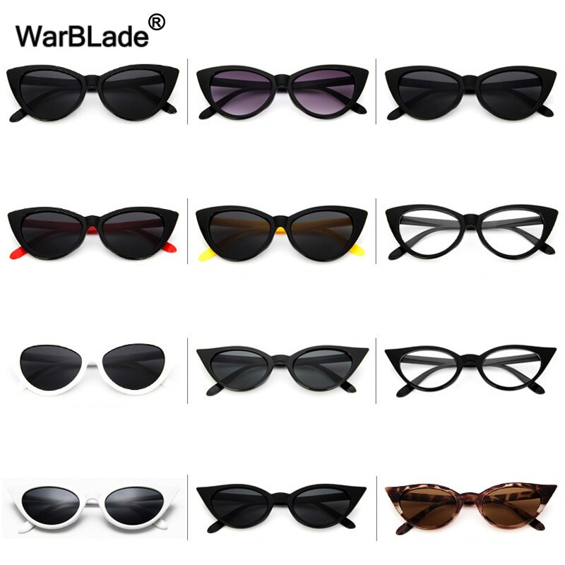 WarBLade Luxury Women Cat eye Sunglasses Vintage Ladies Sunglass Retro Brand Designer Sun Glasses Fe