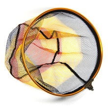 1 pièce de rechange tête de filet datterrissage ronde avec maille de filetage mâle 8mm 5X5mm diamètre 30cm 35cm 40cm pour Option Bank Rock carpe pêche