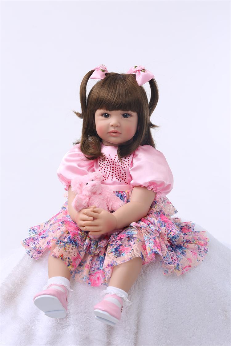 Силиконовая кукла Reborn, 60 см, детские игрушки для девочек, Ограниченная Коллекция