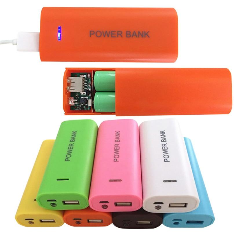 5600mAh Mini Puerto USB 2x18650 cargador de batería titular de la caja del Banco de la energía carcasa DIY Kit para iPhone Sumsang SmartPhone # F30NT02