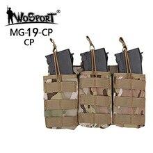Airsoft táctico militar Molle doble Triple revista bolsa Mag bolsa de almacenamiento de utilidad bolsas para G36 WoSporT