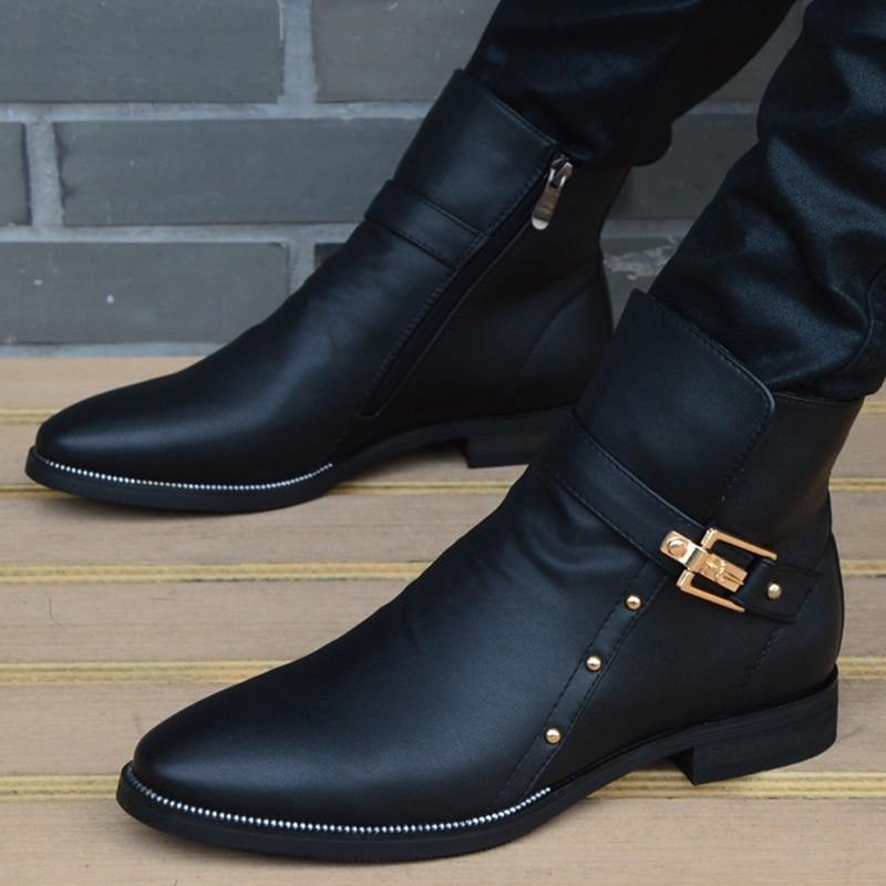 جديد موضة الرجال الأحذية جلد أصلي للرجال البريطانية الخريف الشتاء الدافئة أفخم حذاء من الجلد رجل حذاء كاجوال Zapatos رجل hombre
