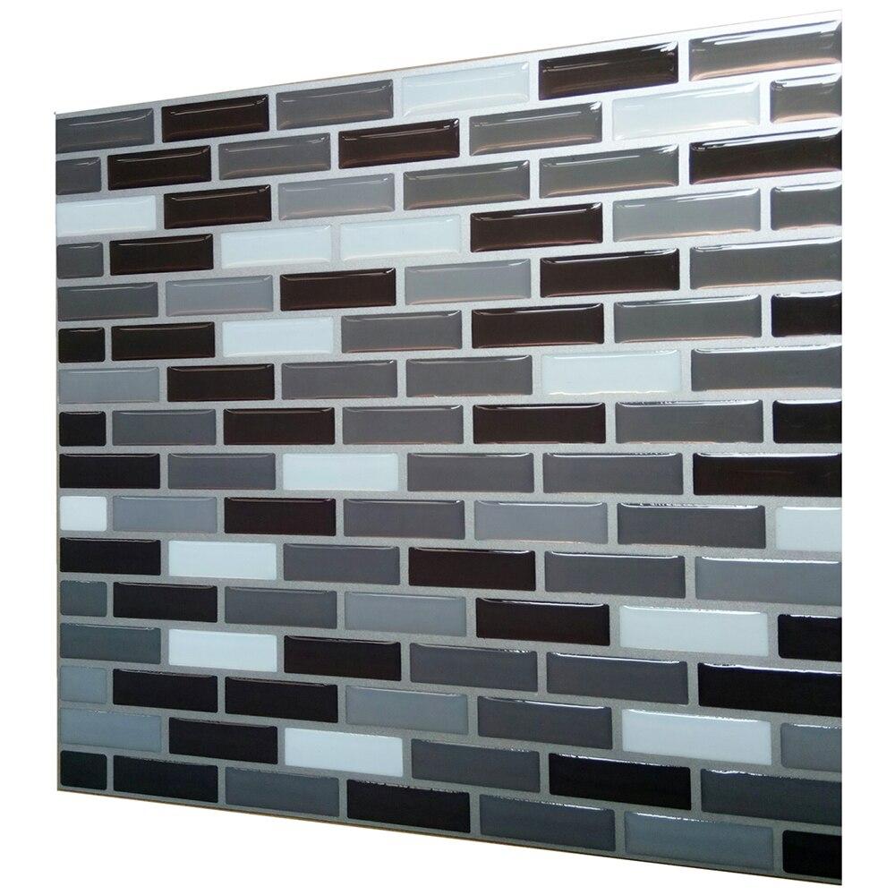 10 Uds. Por paquete (22,5 cm * 22,5 cm) mosaico autoadhesivo ladrillo Backsplash pegatina de pared vinilo baño cocina decoración del hogar DIY