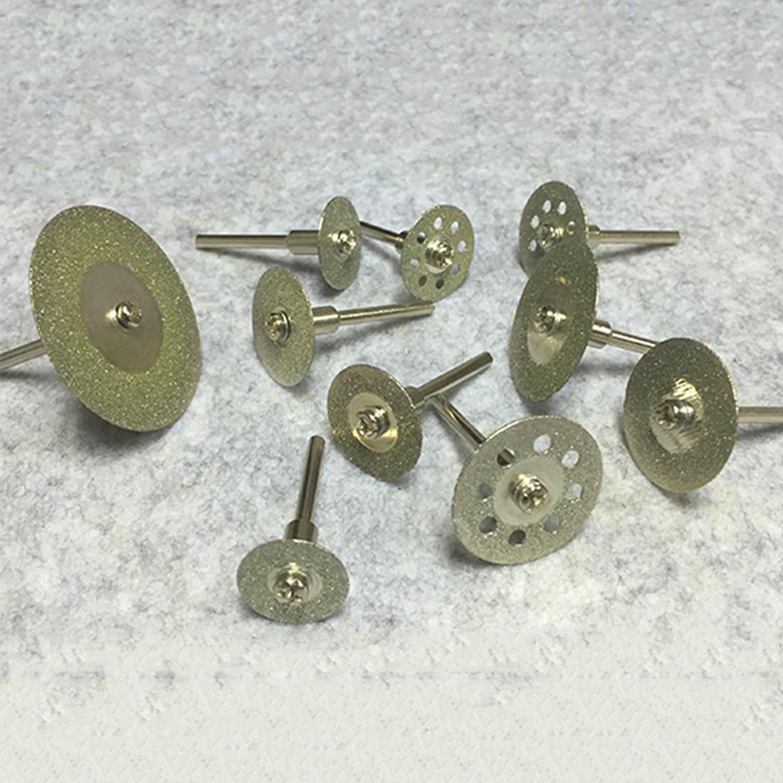 Juego de rueda de sujeción de corte Disco de corte de diamante 10 Uds herramientas de corte/molienda/grabado giratorio