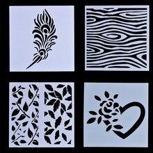 Camadas de plástico Stencils Template DIY Cartão de Papel Scrapbooking Álbum de fotos Diário Ofício Da Mão