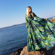 AECU Vestido imprimé fleuri Boho Maxi robe Sexy dame bohème été longue robe femmes robes de plage robes féminines strand jurkjes