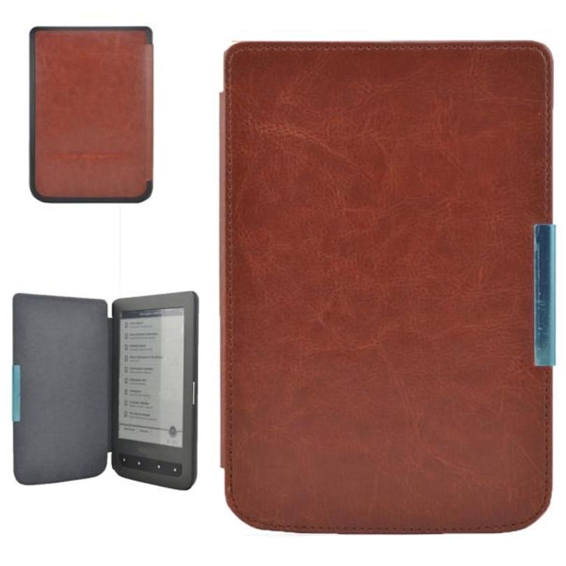 Folio capa do plutônio caso livro para bolso 614 624 626 640 mais pocketbook toque lux 3 ereader crazy horse capa de couro a40