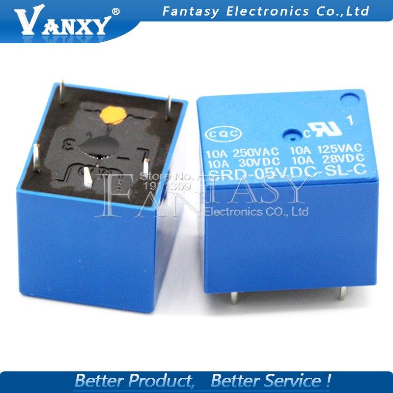 5 pçs/lote Relé SRD-05VDC-SL-C SRD-05VDC-SL SRD-05VDC SRD-05V relés 5 PINOS 5V DC de Alta Qualidade