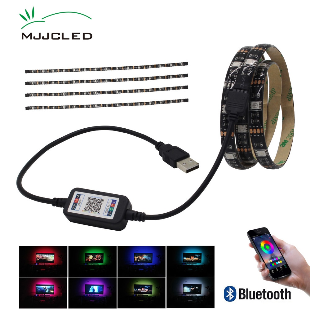 Ambilight TV Hintergrundbeleuchtung USB RGB LED Streifen Bluetooth 5 v Tira LED Band SMD 5050 Flexible LED Band für TV computer Bias Beleuchtung