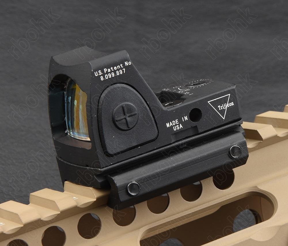 Mini trijicon RMR 1x Vista de punto rojo con 1913 20mm riel picatinny riel de montaje base M9897