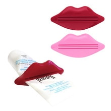 2Pcs Top Sale Sexy Hot Lip Kiss Bathroom Tube Dispenser Toothpaste Cream Squeezer Home Tube Rolling
