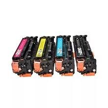 4X CB540A CB540 540A 540 125A Cartuccia di Toner Compatibile per HP LaserJet CP1215 CP1515n CP1518ni CM1312