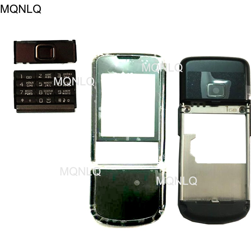 جراب هاتف ذكي ، 8800A ، جراب أمامي/خلفي ، مع لوحة مفاتيح إنجليزية ، لهاتف Nokia 8800 Arte 8800a ، أصلي وجديد
