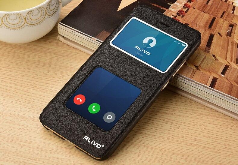 xiaomi redmi note 8 7 5 5a 6 6a Pro Plus S2 Mi 8 SE A1 A2 Lite case,View Window PU Leather Case For xiaomi Flip Cover ALIVO
