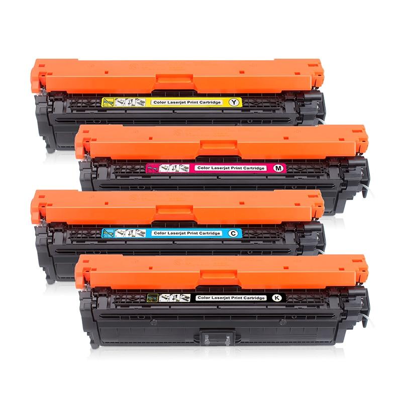 Paquete de 4 Compatible HP 651A CE340A CE341A CE342A CE343A para HP MFP M775 M775D ENTERPRISE 700 MFP M775DN M775F M775Z cartucho de tóner