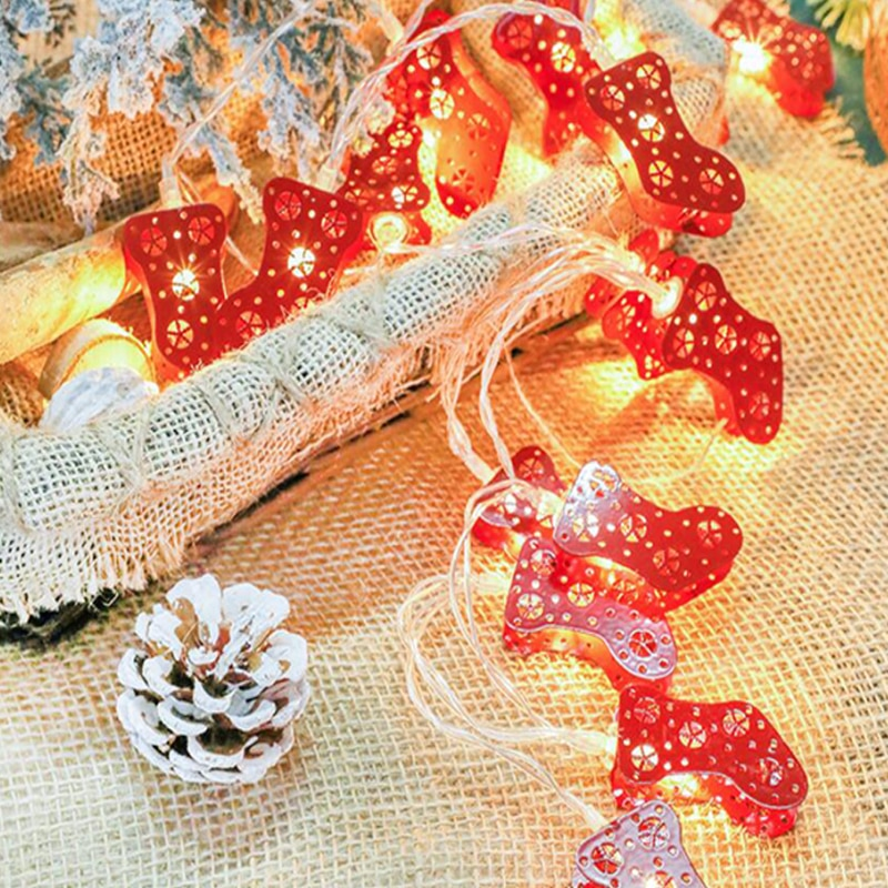 ChristmasSock String Lights 2M 20LED Christmas Led String Lights Battery Operated Lights christmas tree decorations