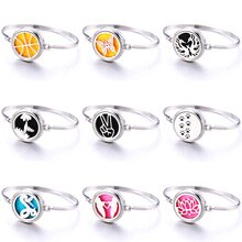 20 Beautiful Patterns Perfume Locket Bracelet 316L Stainless Steel Aromatherapy Essential Oil Diffus