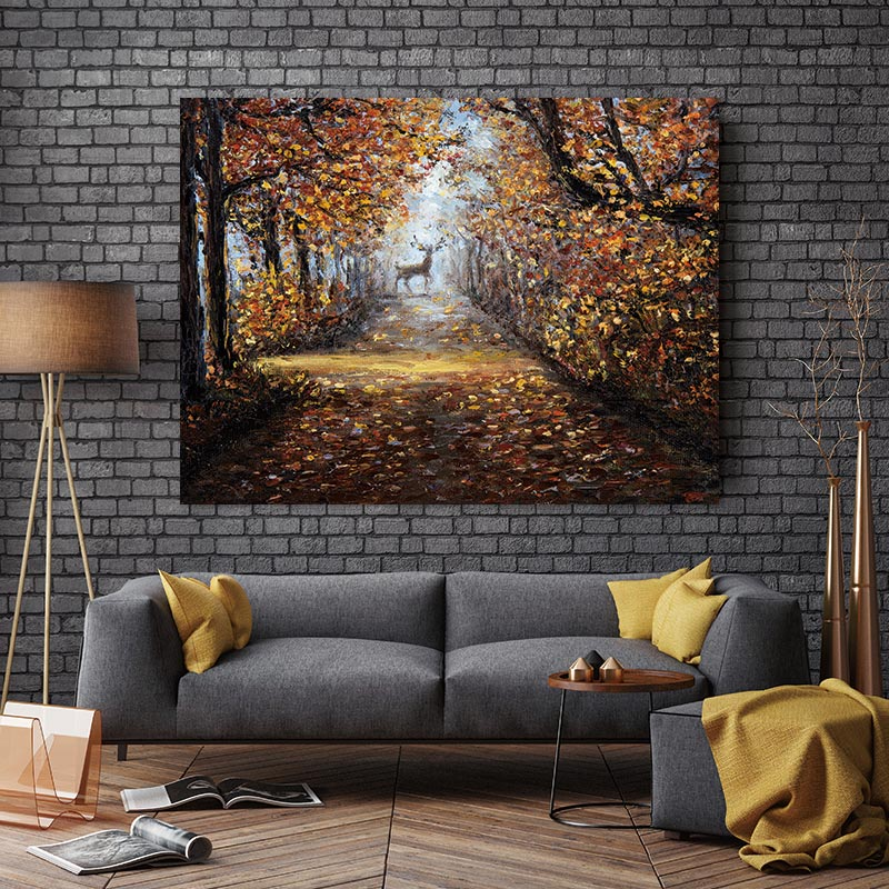 Wall Poster Abstract  ptints forest picture deer art Canvas Painting Art wall and posters decor prints canvas painting