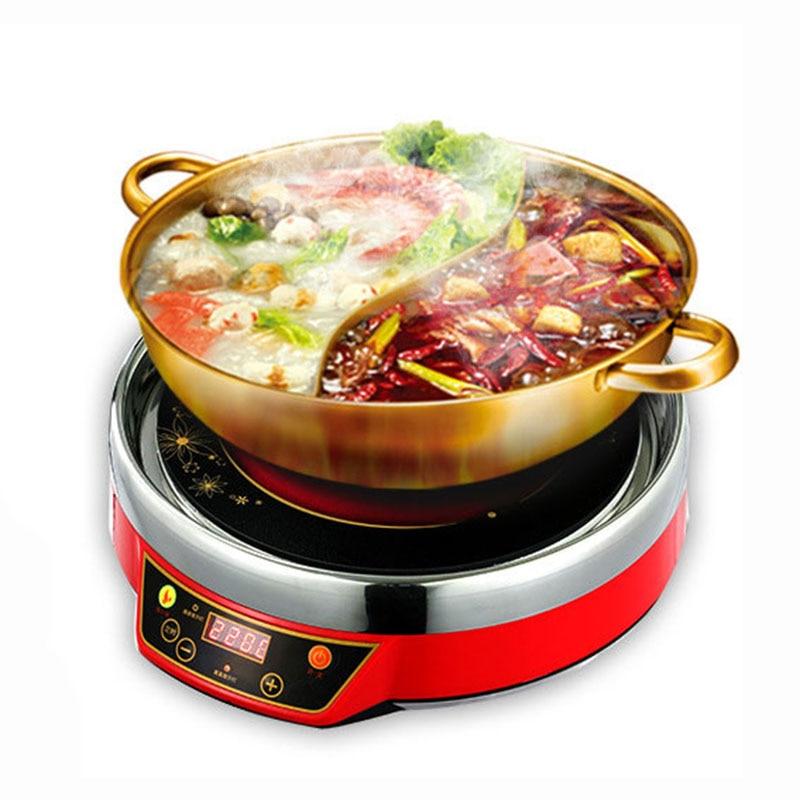 التجارية الكهربائية وعاء الساخنة زر 220V/2200W طباخ القلي متعددة الوظائف طباخ التعريفي QW-2211