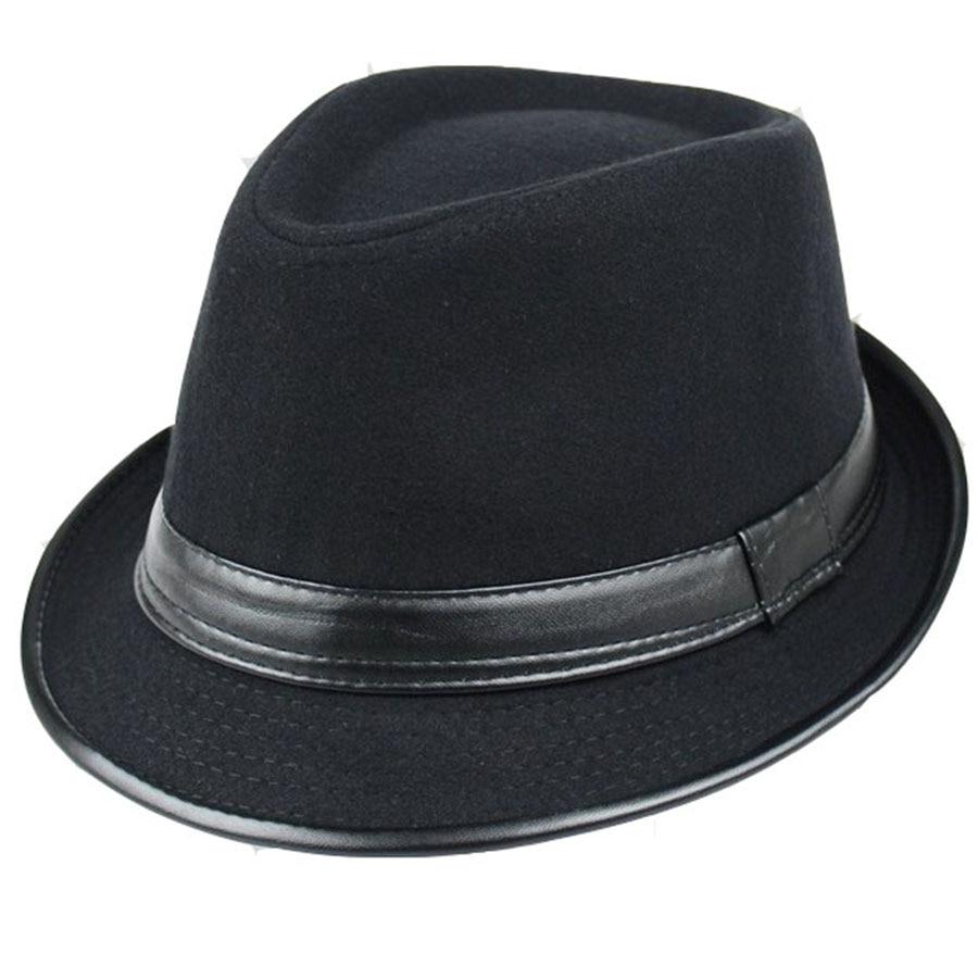 The Hot sale Winter hat children Han Banchao fashion wool jazz hat Vintage all-match hat men in autu