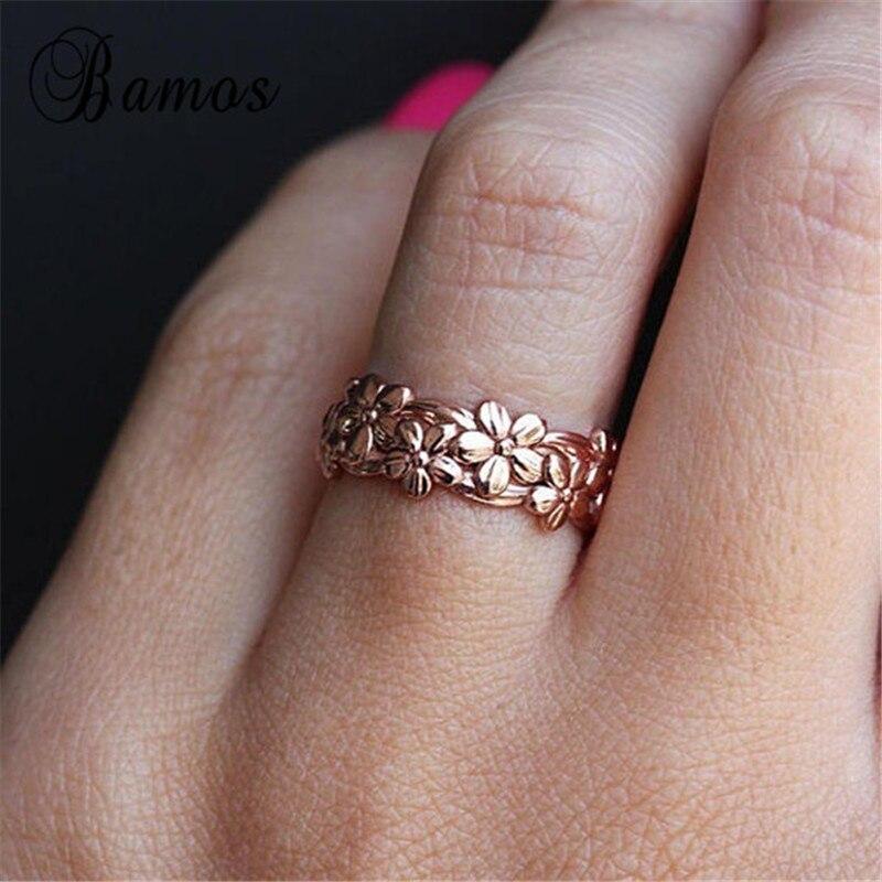 Кольцо для помолвки бамос Женский, винтажное, розовое золото