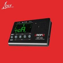 AROMA AMT-560 accordeur de guitare micro intégré accordeur électrique métronome avec fonction de ramassage pour guitare basse chromatique violon ukulélé
