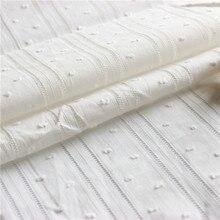 Tissu de coton ajouré en dentelle blanche   Modèle délicat avec dentelle saint-jacques, tissu dentelle, broderie, bon marché, nouveau!