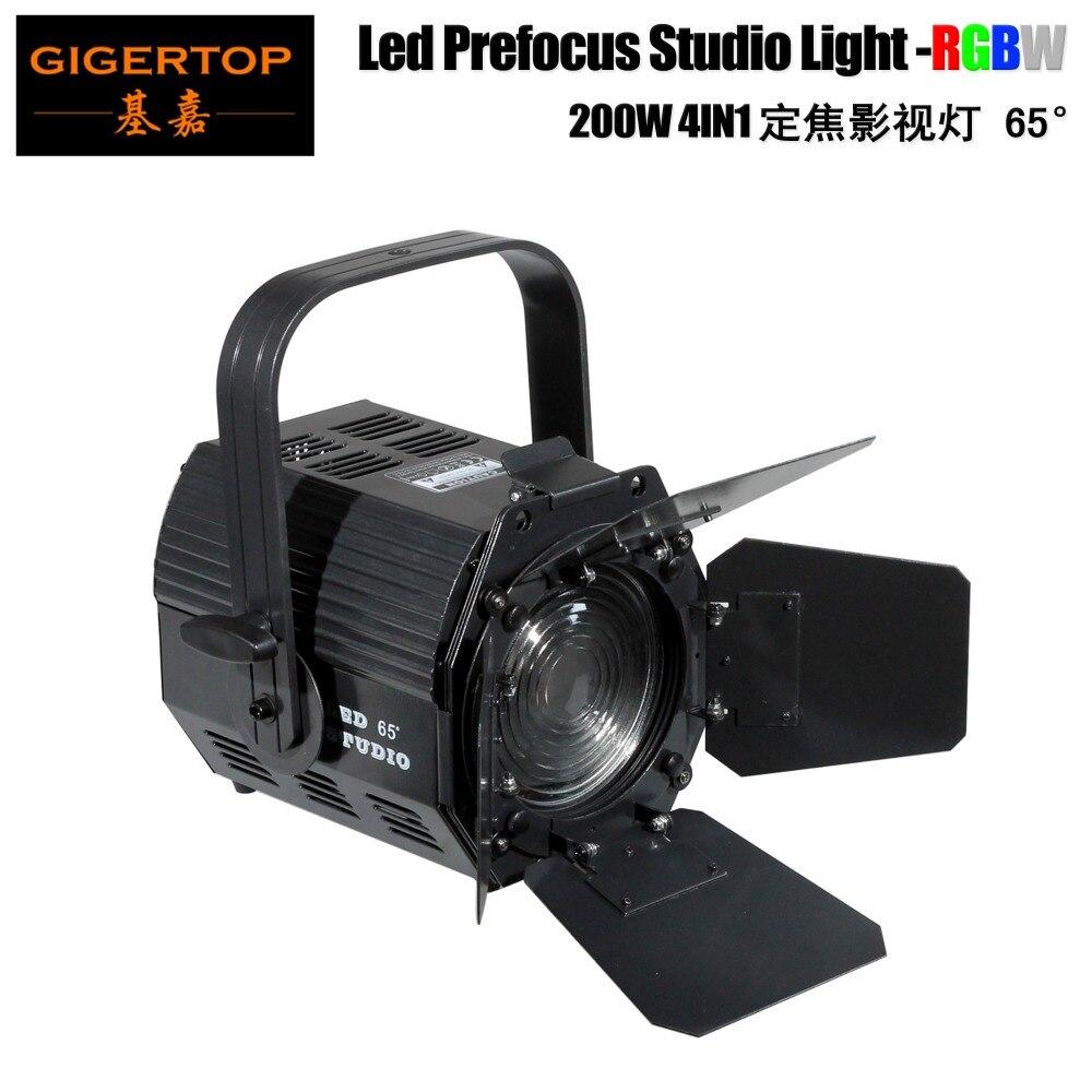 TIPTOP 200 W Led Estúdio Luz COB RGBW Full Color 4IN1 Prefocus Cool Fan Power/DMX IN/OUT conector do Anel Pendurado TP-022 Barndoor